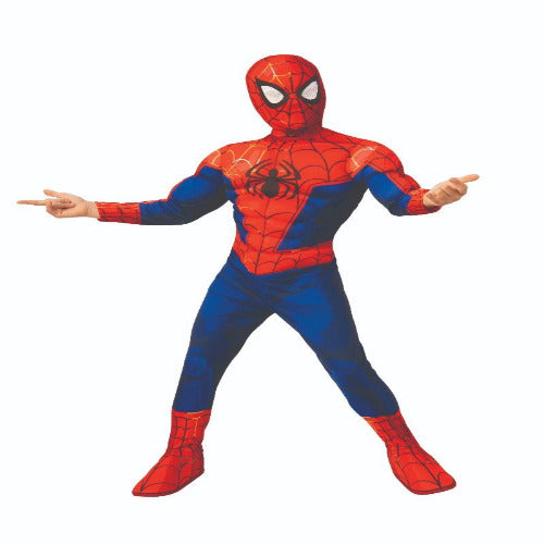 Sku 701435  Kids Spider-Man: Into the Spider-Verse Deluxe Peter Parker Spider-Man Costume