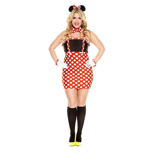 4 PC Ladies Darling Miss Minnie Dress Costume - worldclasscostumes