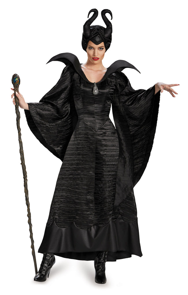 Sku 71825   Maleficent Christening Black Gown Adult Deluxe