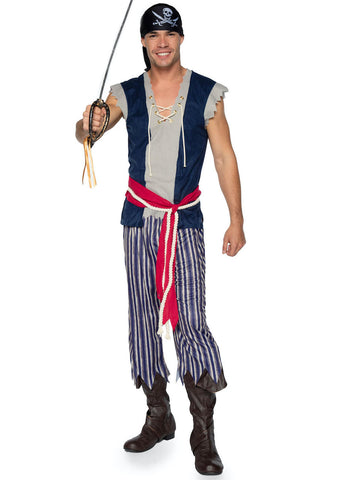 3 PC Plank Walking Pirate Costume