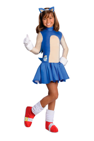 Girls Sonic Costume