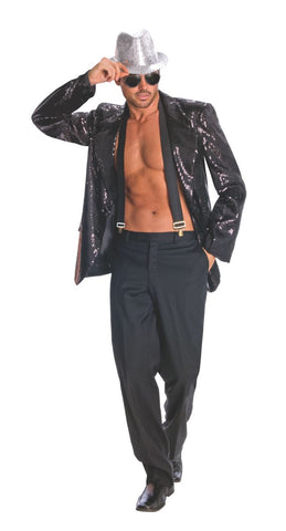 Mens  Black Sequin Jacket.