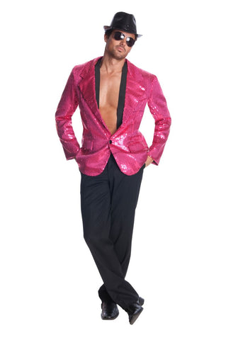 Mens Pink Sequin Jacket