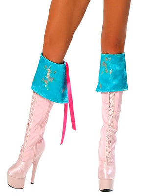 Turquoise Pirate Boot Covers - worldclasscostumes