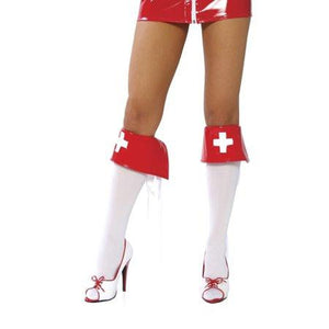 Red and White Boot Covers - worldclasscostumes