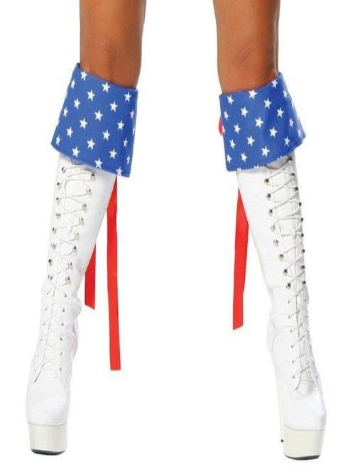 Red White and Blue Boot Cuffs