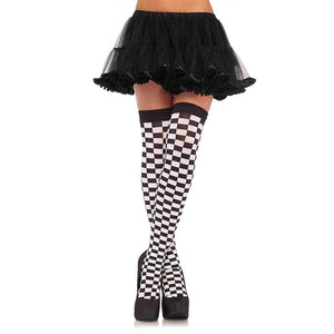 Checkerboard Thigh Highs - worldclasscostumes