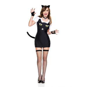 5 PC   Fuzzy Kitty Costume - worldclasscostumes