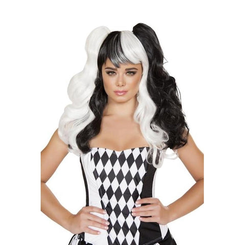 Jester Black/White Wig