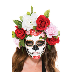 Flower Head Piece Mask - worldclasscostumes