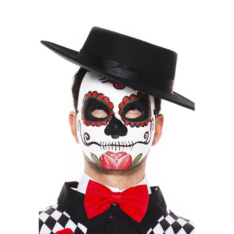 Sku 76633  Day Of The Dead Mask - worldclasscostumes