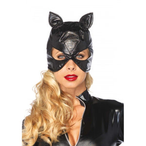 Faux Leather Cat Mask - worldclasscostumes