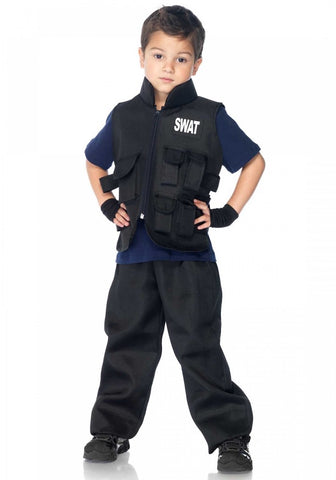 Swat Officer Boys Costumes - worldclasscostumes