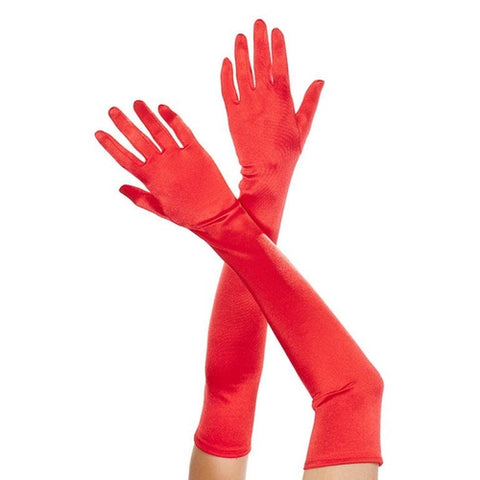 Extra long satin gloves - worldclasscostumes