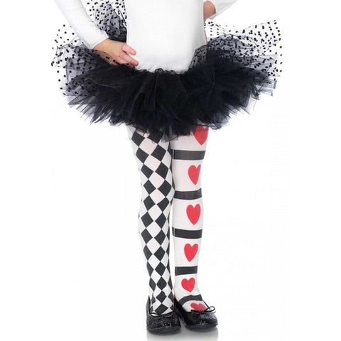 Harlequin And Heart Tights