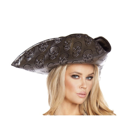 Skull Embroidered Pirate Hat - worldclasscostumes