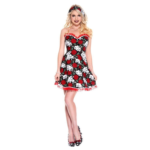Ladies Pin Up Attractive Gal Dress