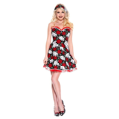 Sku 70782  Ladies Pin Up Attractive Gal Dress - worldclasscostumes