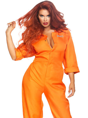 Ladies  Prison Jumpsuit - worldclasscostumes