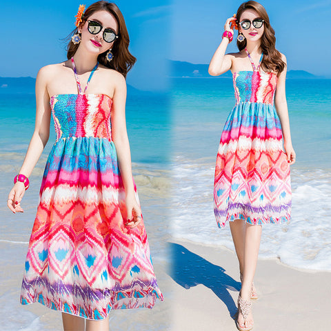 010 3 Colors Summer Long Dresess - online shopping wih
