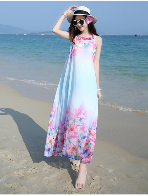 011 Summer Long Beach Dress - online shopping wih