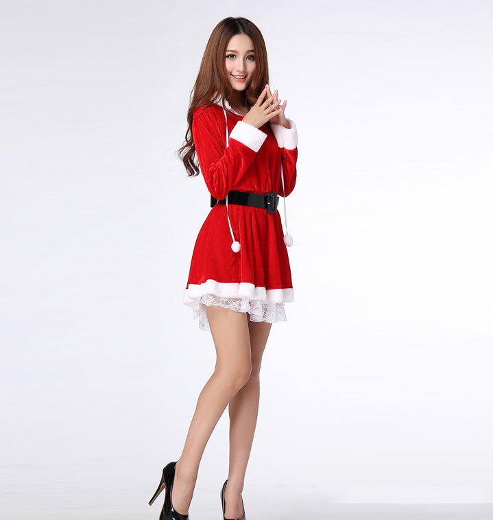 a6b2401648 ... K10 Sexy Christmas Red dress skirt Suit Women Santa Claus Clothing for  party - online shopping ...