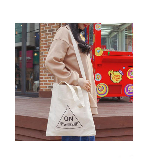 1026  Ins Popuar Women Canvas Bag - online shopping wih