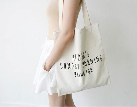 1025 Ins Fashion Canvas Tote Bag Women - online shopping wih