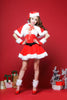 K42 Fashion style Santa Claus ladies red dress Christmas peform wearing Santarina Costumes - online shopping wih