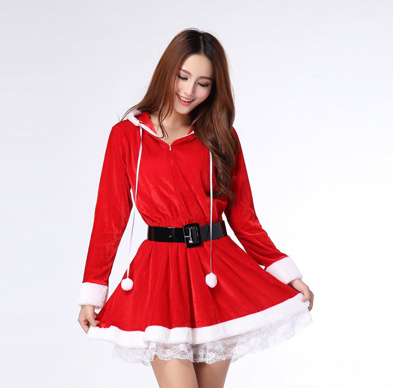k10 sexy christmas red dress skirt suit women santa claus clothing for party coolsir sunglasses - Red Dress For Christmas
