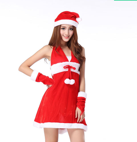 K36 New female sexy Adult Christmas Santa Claus Suits Seductive Lingerie - coolsir sunglasses