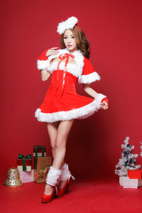 k47 Sexy Christmas Mid Dress Christmas costumes - online shopping wih
