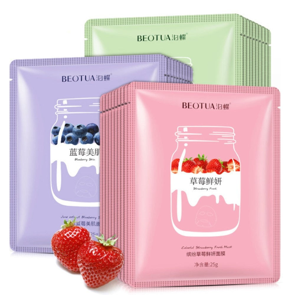 Plant Extracts Fruit Face Masks Collagen Essence Facial Mask