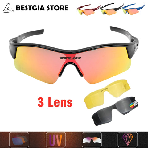 Children Cycling Glasses UV Protection Sport Sunglasses 3 Lens Kids Bike Sunglasses