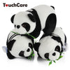 16CM Cute Cartoon Panda With Bamboo Baby Plush Toys Infant Soft Stuffed Animal Key Chain Plush Doll Toys Kids Gift Toy - coolsir sunglasses