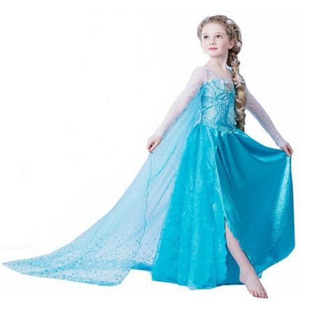 KG06 Dress Children Princes Infants Elsa Anna Dresses For Girls Cosplay Clothes Christmas - coolsir sunglasses
