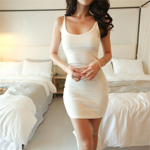 D733 Fashion Women Sexy Backless Basic Dresses Sleeveless - online shopping wih