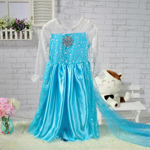 KG06 Dress Children Princes Infants Elsa Anna Dresses For Girls Cosplay Clothes Christmas