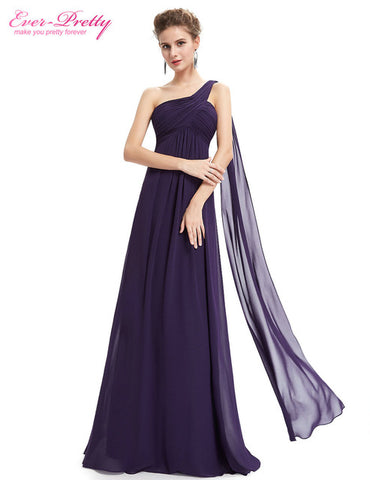 Evening Dresses Ever Pretty EP09816 One Shoulder Ruffles Padded Special Occasion Weddings Events Long 2017 New Evening Dress - online shopping wih