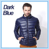 winter jacket men ultra thin light Hooded down jacket