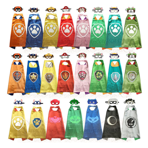 PAW - Cape and Mask Set Patrol Costume kids birthday party favor Superhero Style Cosplay Costumes and Halloween Gift - online shopping wih