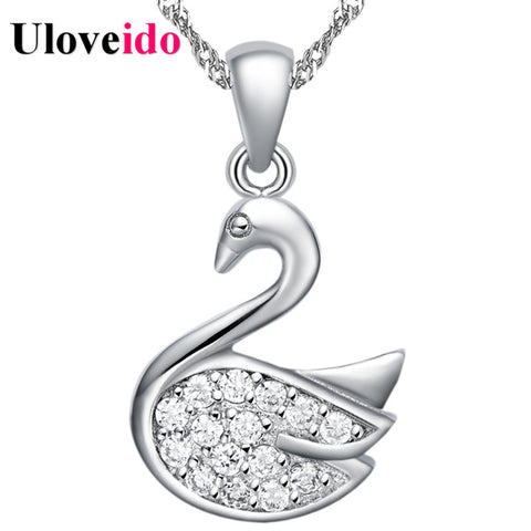 Crystal Chocker Silver Colar Necklace Women 2017 Anime Necklaces & Pendants Jewelry Collares Costume Jewelery Uloveido N729 - coolsir sunglasses