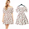 D732 Dpure cotton New 2017 cherry summer autumn Women Dress - online shopping wih