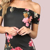 SHEIN Sexy Party Dresses Bodycon Off Shoulder Dress Black - online shopping wih
