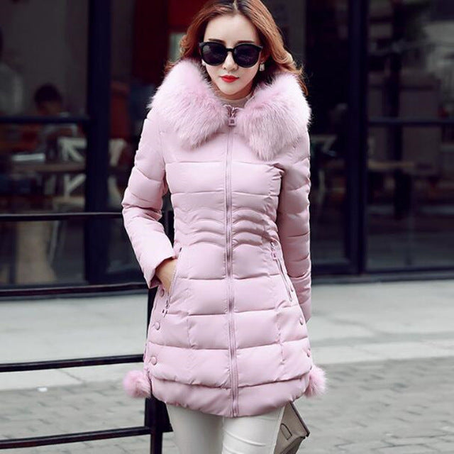 XMY3DWX Women are thickening in winter Hooded long Down 1102