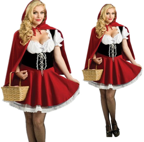 HA01 NEW Little Red Riding Hood Costume halloween - online shopping wih