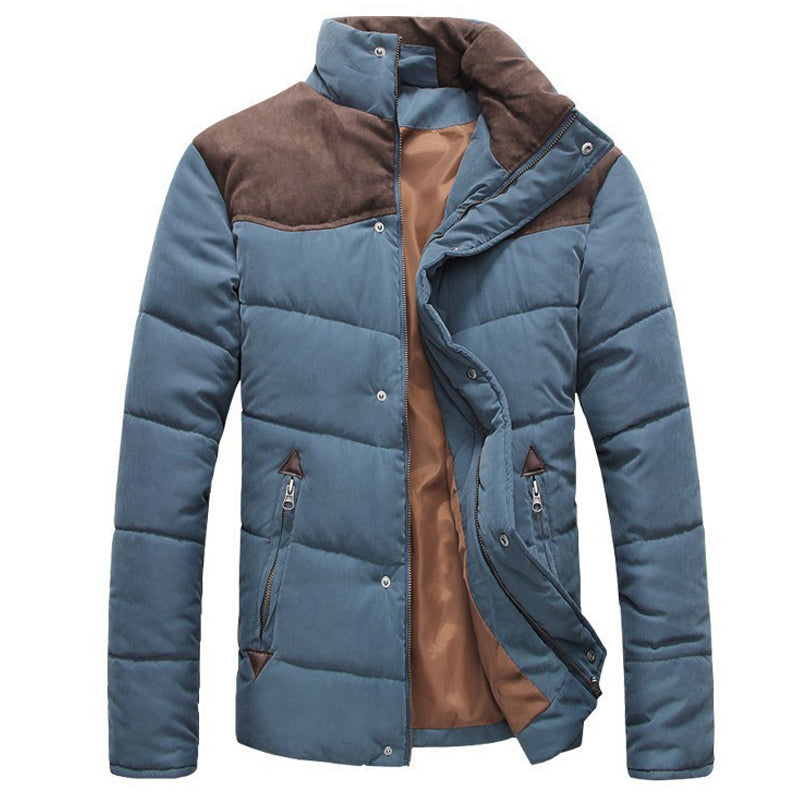 Hot Sale Men Winter Splicing Cotton-Padded Coat Jacket - online shopping wih
