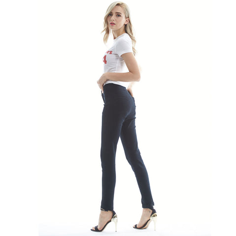 JE05 Fashion high waist Women jeans Stretch Skinny jeans Female calca jeans