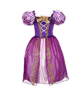 KG09 Baby Girl Anna Elsa Dress High-Grade Princess Cinderella Fancy - online shopping wih