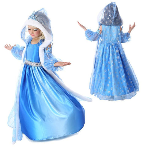 KG01 Girls Dresses Elsa Anna Costume For Kids Christmas Party Prom Dresses For Girls - coolsir sunglasses